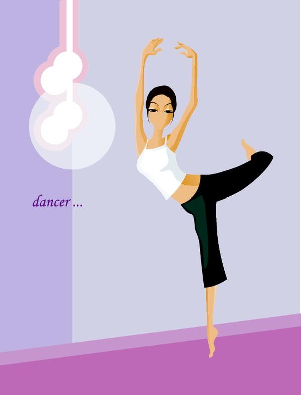芭蕾图片-卡通人物图 舞蹈