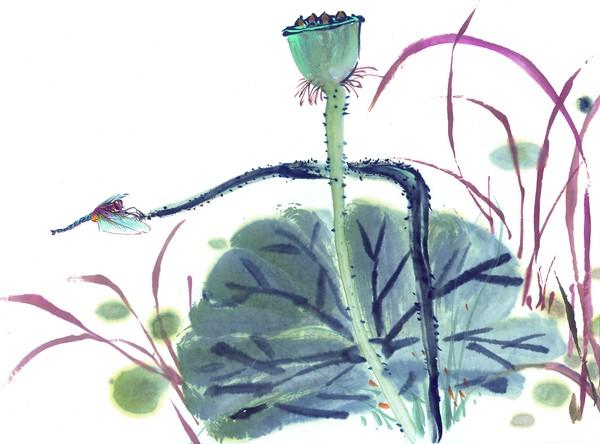 """中國國畫-百態昆蟲 - 愚人 - 愚人:""""犯我强汉者,虽远必诛!"""""""