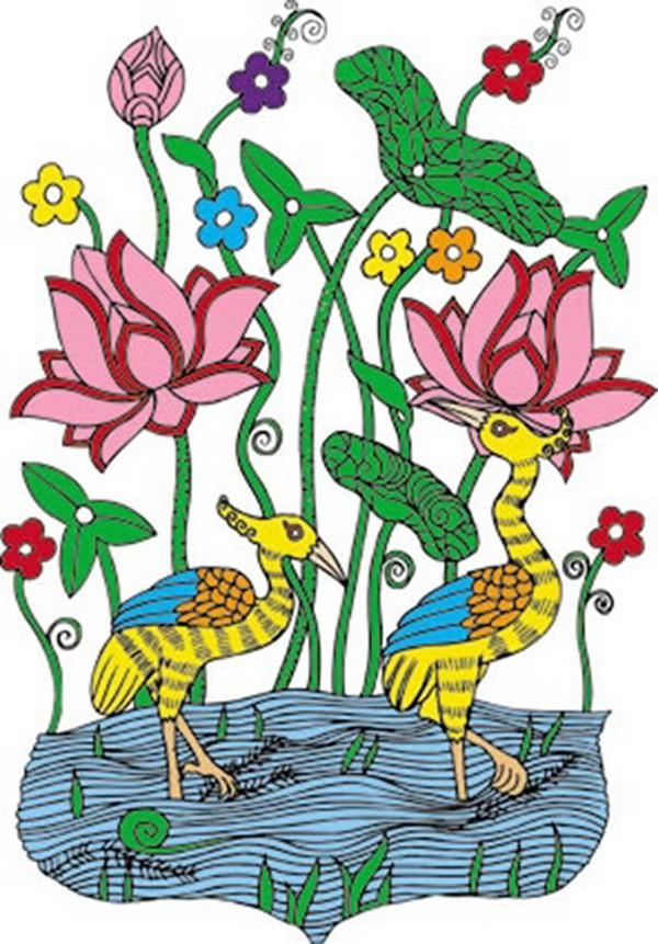 吉祥动物图片 中国民间艺术图 祝福 节日 花束-海草简笔画 海底世界海