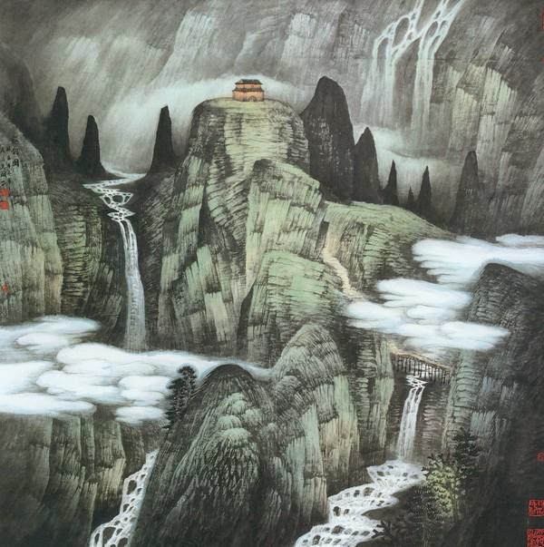 山高水长 图, 山水 名画 图片 中国现代名画图库 高清图片
