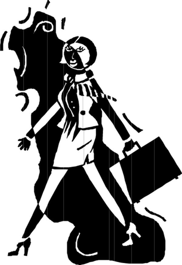 女性漫画图片-人物图提着公文包职业女性,人43韩国漫画偷窥图片