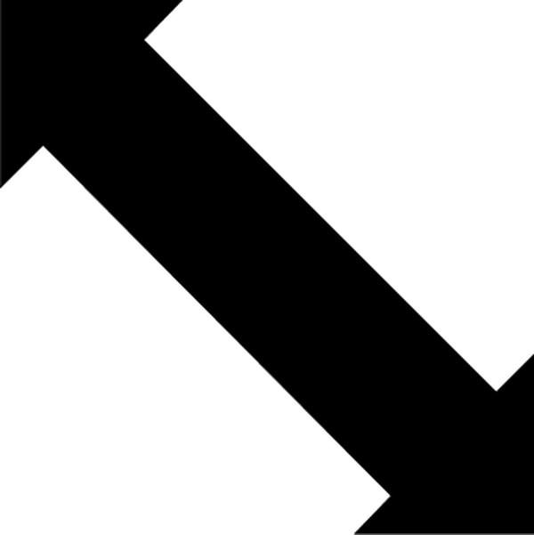 双箭头符号图案大全_转弯箭头标识符号转弯箭头0014