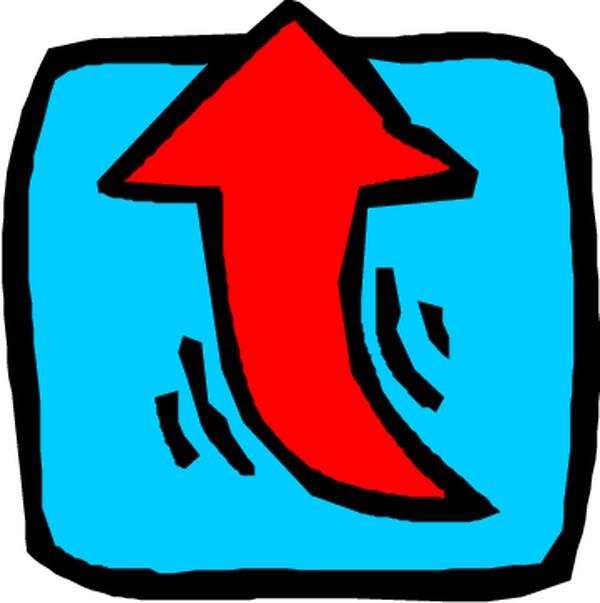右转弯符号_转弯箭头图片-标识符号图 ,标识符号,转弯箭头类