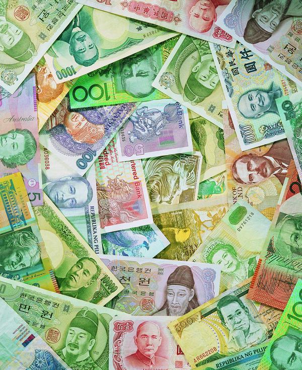 纸币 图案 素材/世界货币图片/商业金融图 各国纸币五颜六色...