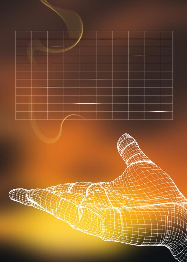 数字模型图片 科技图 手心 数学 建模,科技,数字高清图片