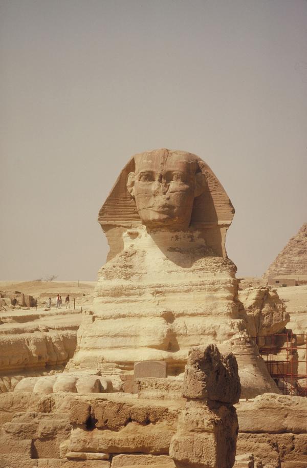 埃及风光图片-世界风光图 大漠 石像 巨人,世界