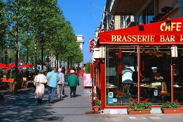 法国巴黎图片-世界风光图 招牌 小店 好天气,世