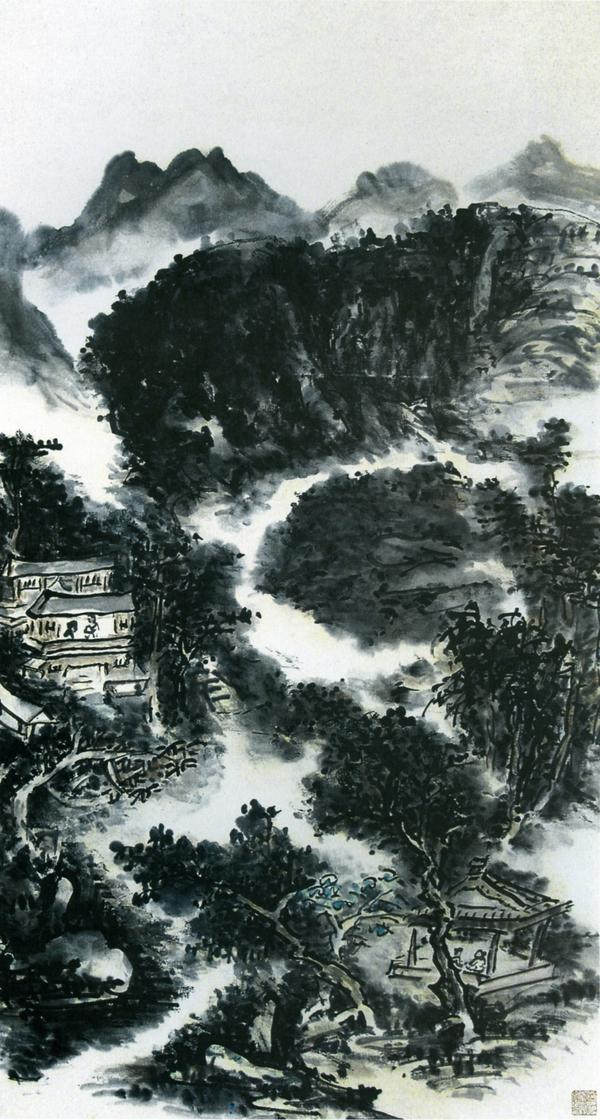黄宾虹国画作品欣赏(1)  - 墨海雪浪 - 墨海雪浪