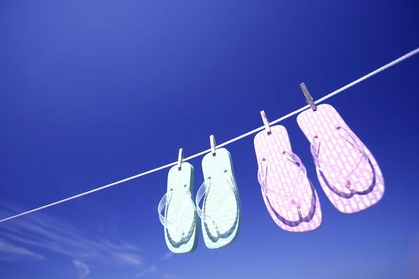 人字 拖鞋 凉晒,生活,沙滩夏天