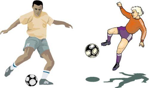 综合体育图片-时尚矢量插画图 体育类 足球人物