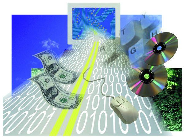 网络生活图片-电脑科技图 网络 挣钱 消费,电脑