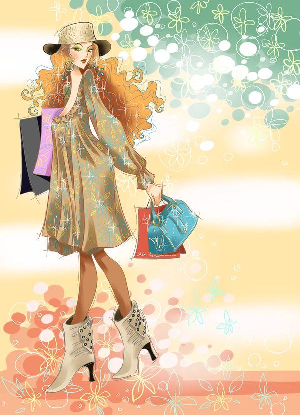 时尚女人图,人物模板图片