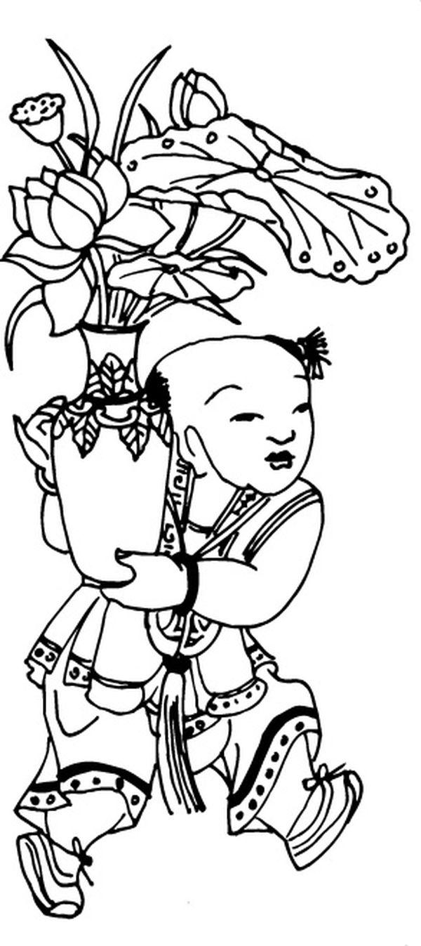唯美黑白创意画-吉祥图案4图,吉祥图案图片