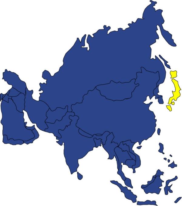 世界地图图片 名胜地理图 日本 名胜地理