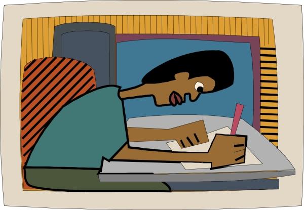 不是男人漫画_坐着思考的男人插画卡通人物图片动漫人物图