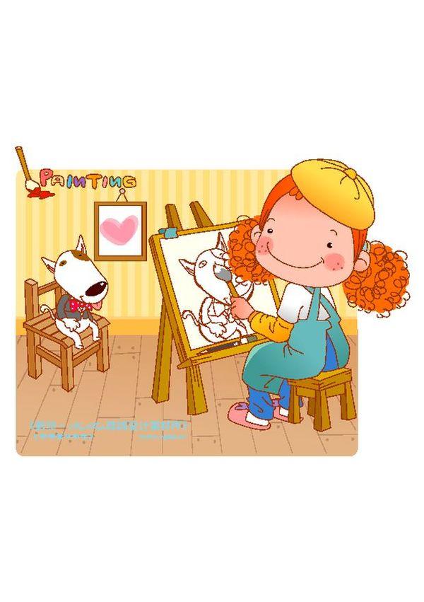 可爱胖女孩图片 人物图 画画 写生 写实 人物