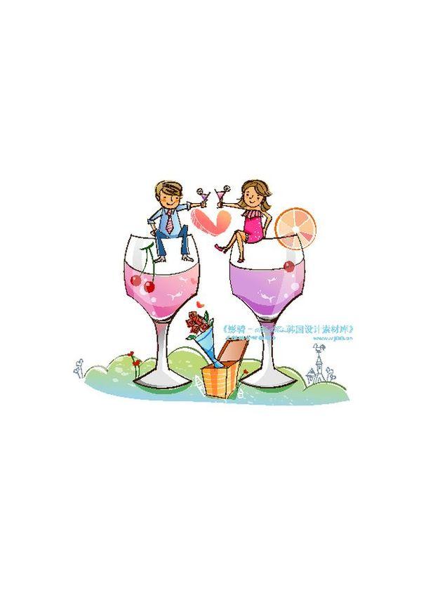 酒瓶 干杯 饮品 开心卡通-人物-人物,开心卡通; 干杯饮品开心卡通图片