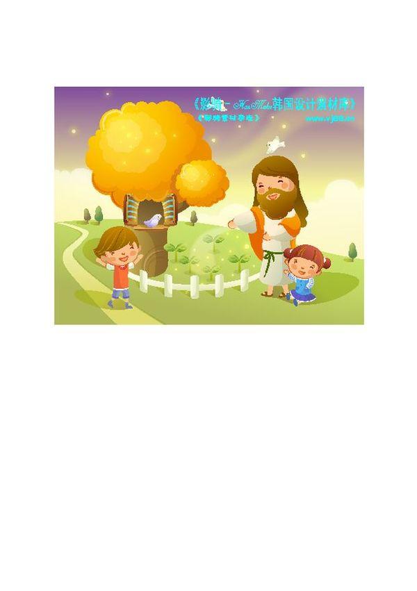 耶稣儿童图片