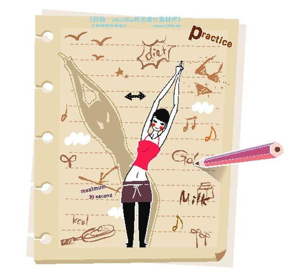 图片v图片瑜伽-花纹图初中女孩竖立弯腰的铅常考30人物化学方程式图片