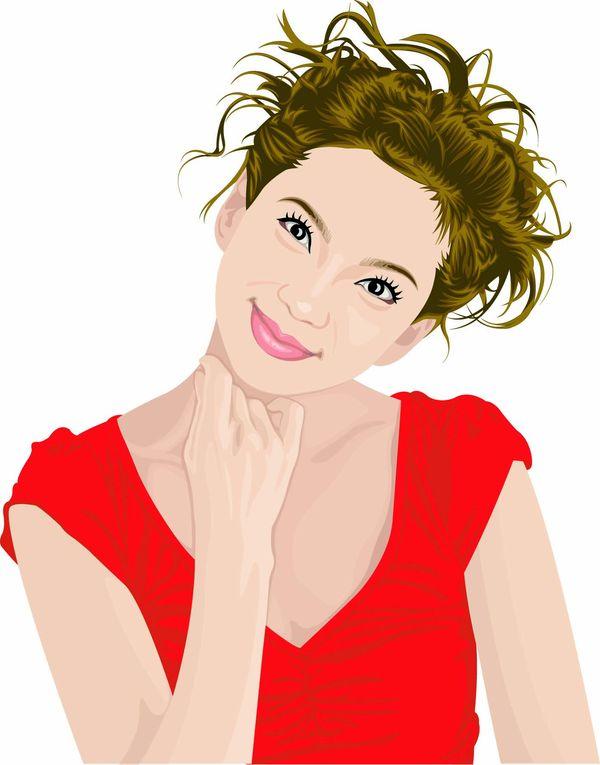 女性百态图、标题插画图片,Title illustrator,Female world