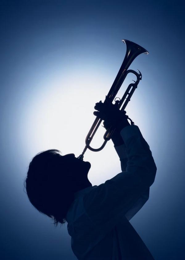 演奏乐器图片-静物图 喇叭 吹哨 昂着头_静物