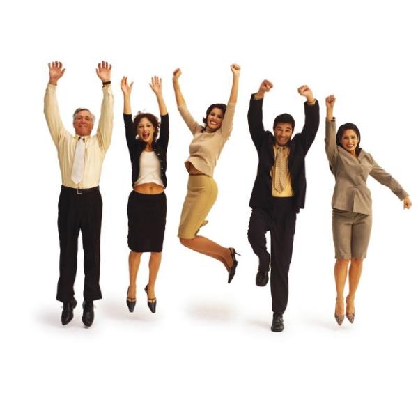 合作伙伴图片 商业图 欢呼 团队 商业人士,商业,合作伙伴
