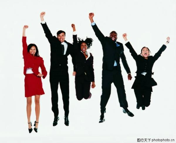 商业团队图片 商务图 欢呼胜利,商务,商业团队
